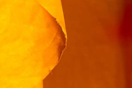 yellow fabric close up