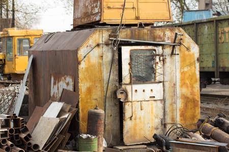 metal grate: scrap-metal background Stock Photo