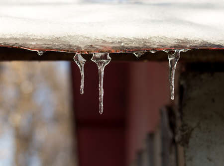 Icicles of ice in a canopy & Ice Canopy Stock Photos. Royalty Free Business Images