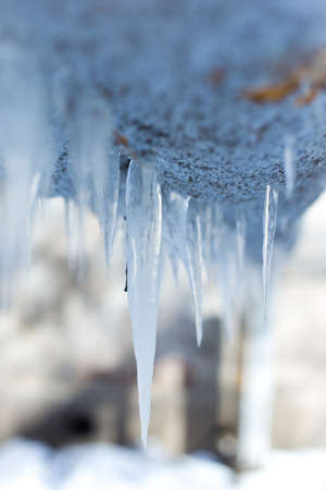 Beautiful icicles Stock Photo