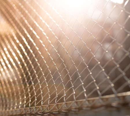 mesh netting on the sunset background