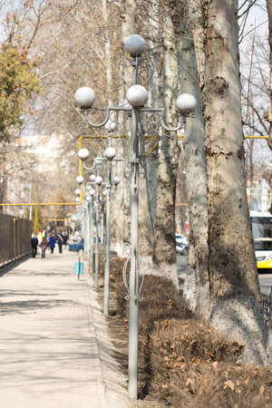 street lamp: Lanterns in the park day