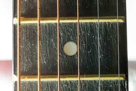 oldie: Detail of a used vintage guitar