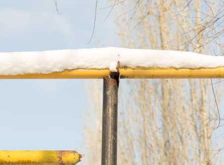 Snow-yellow gas pipe