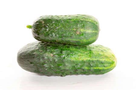 cucumbers: cucumber on white table