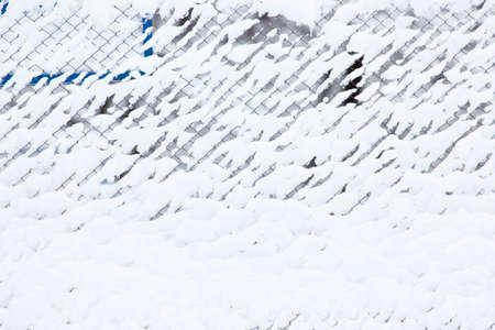 Hintergrundrasterfeld Ineinander greifen, Winterschnee Standard-Bild - 92200891