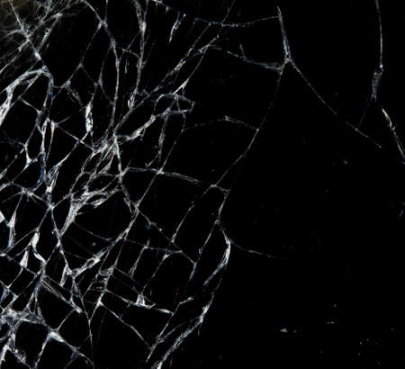 abstract background of broken glass Stock Photo