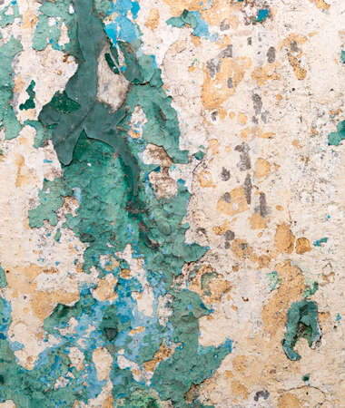 Seamless texture - old dirty wall covered with peeling paint