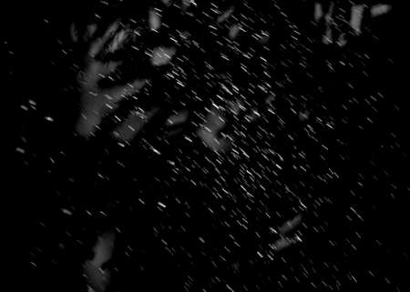 jets of water, like rain on a dark background Stock Photo