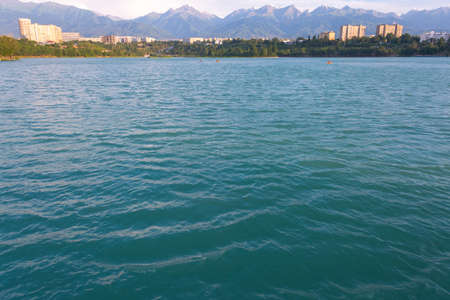 Lake Sairan. city of Almaty
