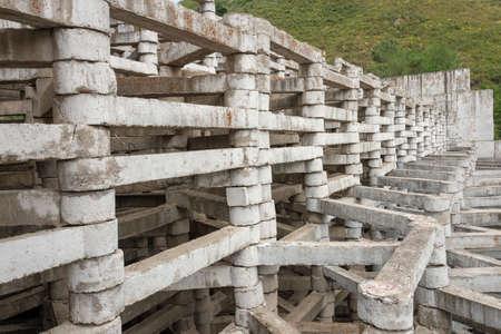 old dam. G. Almaty.Kaskelen. Kazakhstan Фото со стока