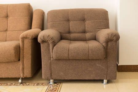 upholstered furniture, sofa in the waiting room Foto de archivo