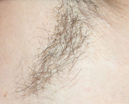men's armpits with hair Stockfoto - 107506349