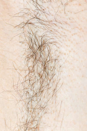 mens armpits with hair Stock Photo