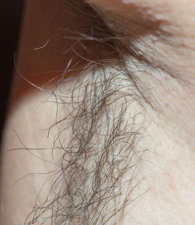 mens armpits with hair Stockfoto