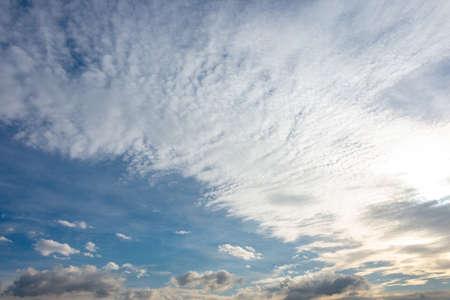 beautiful cloud in the blue sky Stock Photo