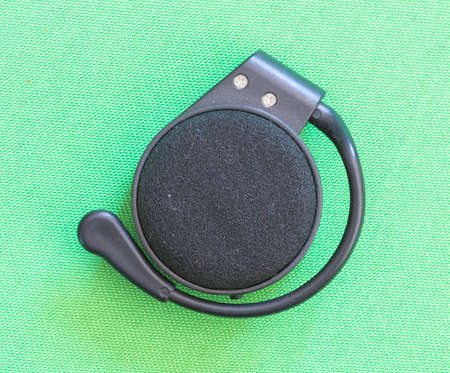 mp3 player on green background