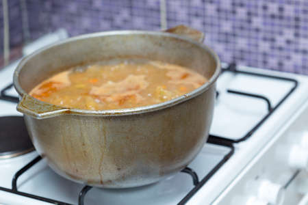 soup pan on the stove