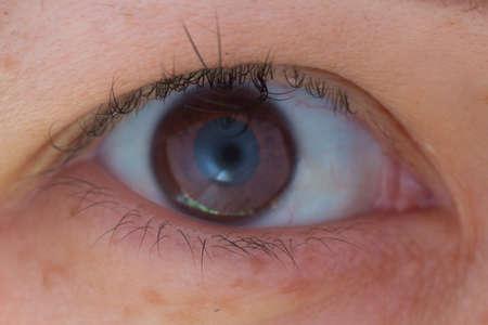 Medisch detail van menselijk oog Stockfoto