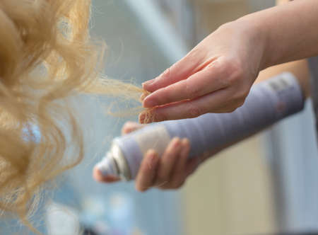 Training hairstyles on a mannequin