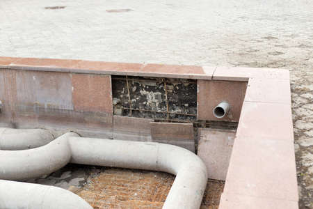 main water supply in the fountain