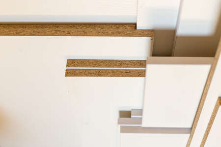 white laminate for furniture, prefabricated boards for furniture assembly
