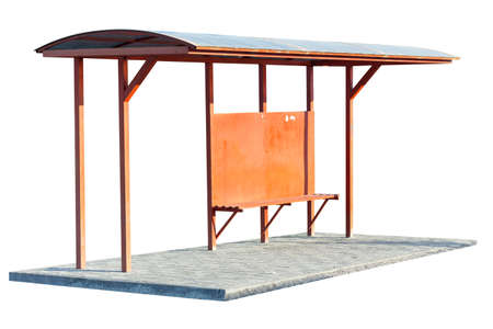 bus stop on a white background