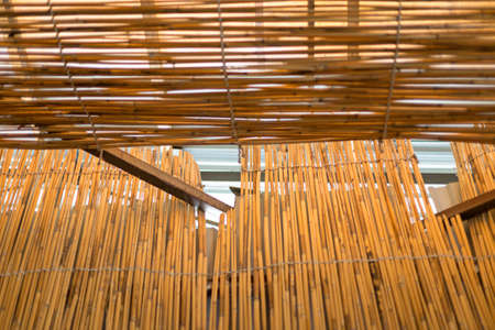 Cane background. Traditional bamboo cane fence. Asian style