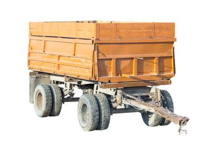 Farm trailer isolated on white background 版權商用圖片