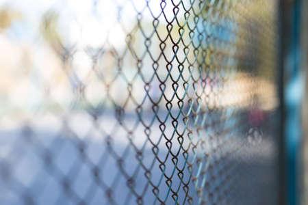 clôture en maille au terrain de jeu