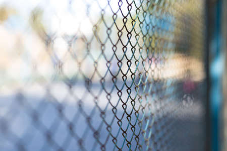 mesh fence at the playground