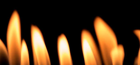 fire flames on black background 스톡 콘텐츠
