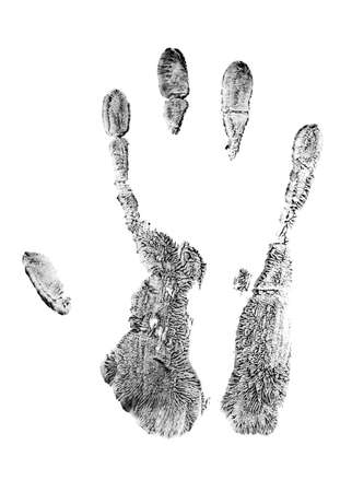 Hand print, skin texture pattern