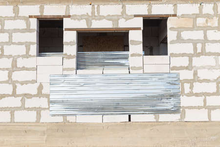 house, background texture of white lightweight concrete block, raw materials for industrial wall