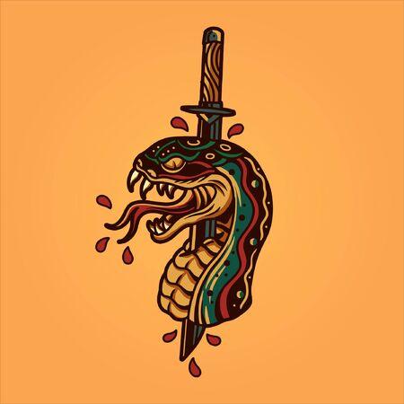 snake head tattoo design