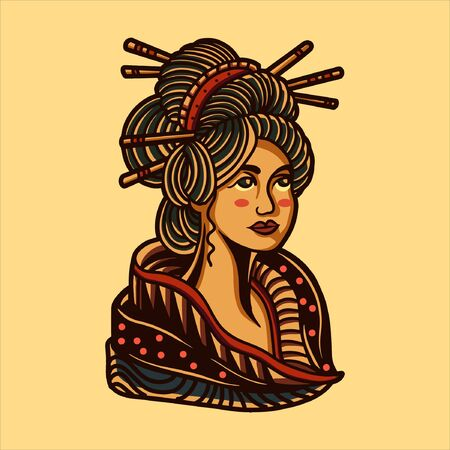 geisha illustration design Illustration