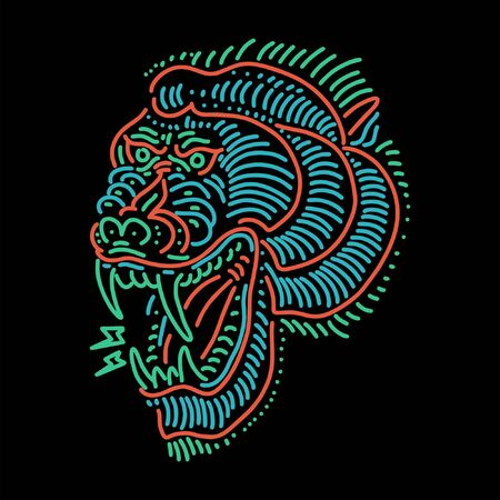baboon line art vector design Vektorgrafik