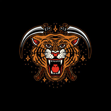 tiger tattoo vector design