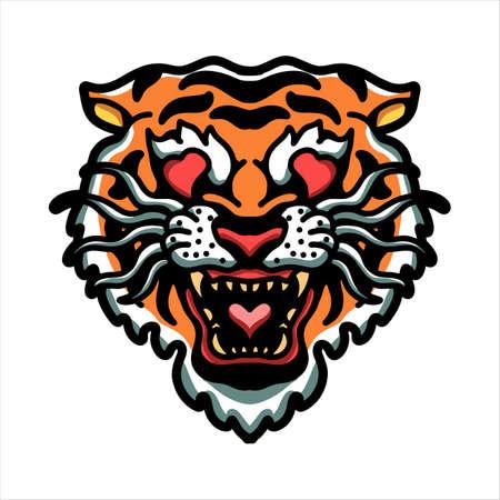tiger in love vector design Vektoros illusztráció