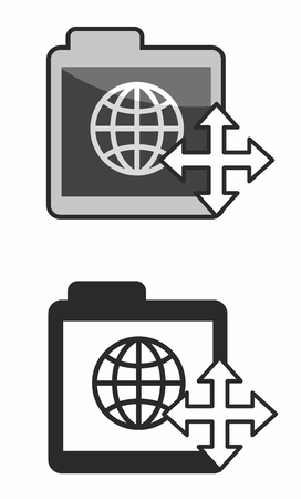 adaptive: Icon symbol for web content or document which is part of responsive or adaptive web design. Two variants provided.