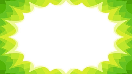 spring sales starburst flash promotional panel in green colourway with blank text area