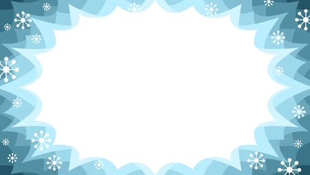 winter sale starburst flash promotional panel in snow colourway with snowflakes