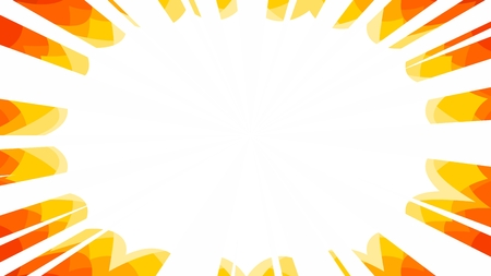 starburst manga explosion rays comic background in fire colourway