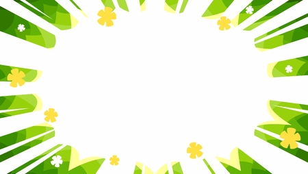 spring sales manga starbust flash vector background panel in green with yellow and white flower symbols