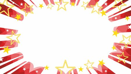 christmas starbust flash background in red with manga rays and gold stars
