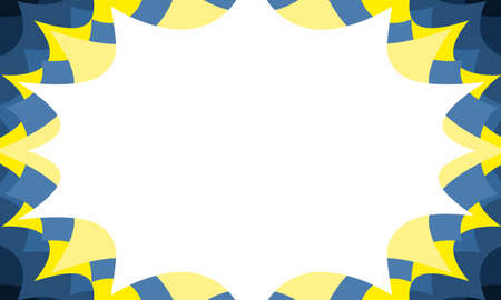 swedish celebration sale event invitation starbust background in blue and gold 向量圖像