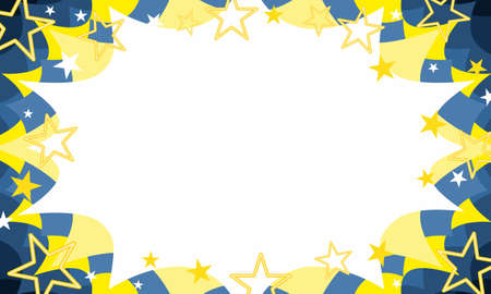 christmas celebration sale event invitation starbust background in swedish blue and gold with stars 向量圖像