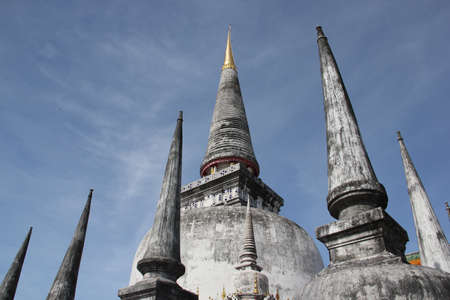 an ancient pagoda in southern part of thailand