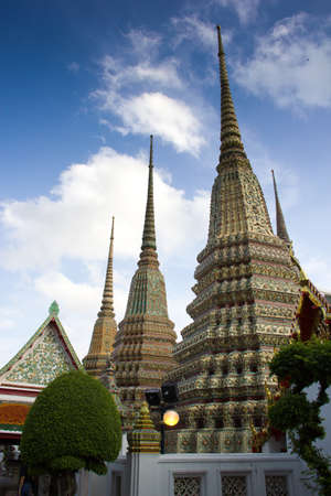 pagodas in temple Stock Photo