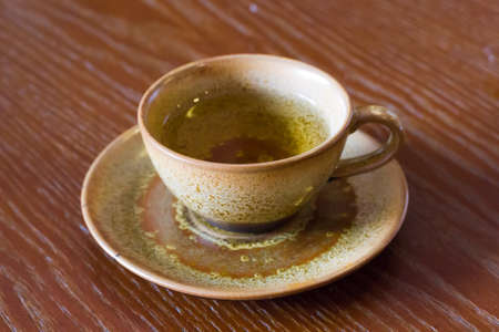 a clay cup of tea Stock Photo - 13962270